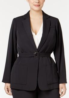 Calvin Klein Plus Size Belted Jacket