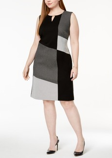 Calvin Klein Plus Size Colorblocked Sheath Dress