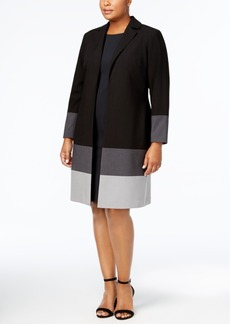 Calvin Klein Plus Size Colorblocked Topper Jacket