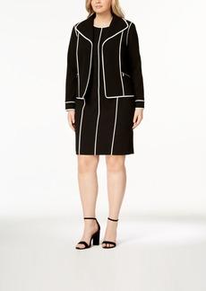 Calvin Klein Plus Size Contrast-Trim Blazer