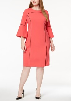 Calvin Klein Plus Size Contrast-Trim Dress