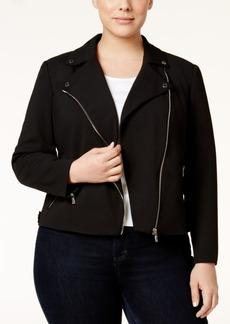 Calvin Klein Plus Size Crepe Moto Jacket