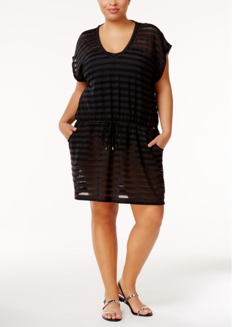 Calvin Klein Calvin Klein Plus Size Crochet Cover Up Womens