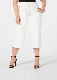 Calvin Klein Plus Size Cropped Wide-Leg Pants