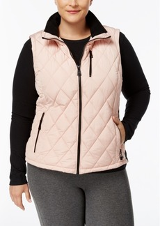 Calvin Klein Plus Size Diamond-Quilted Vest