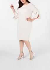 Calvin Klein Plus Size Embellished Bell-Sleeve Dress