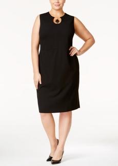 Calvin Klein Plus Size Embellished Keyhole Sheath Dress