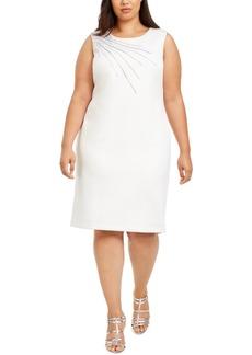 Calvin Klein Plus Size Embellished Scuba Sheath Dress