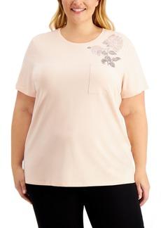 Calvin Klein Plus Size Embellished T-Shirt