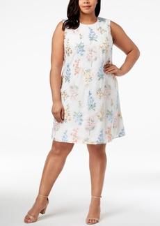 Calvin Klein Plus Size Embroidered Trapeze Dress