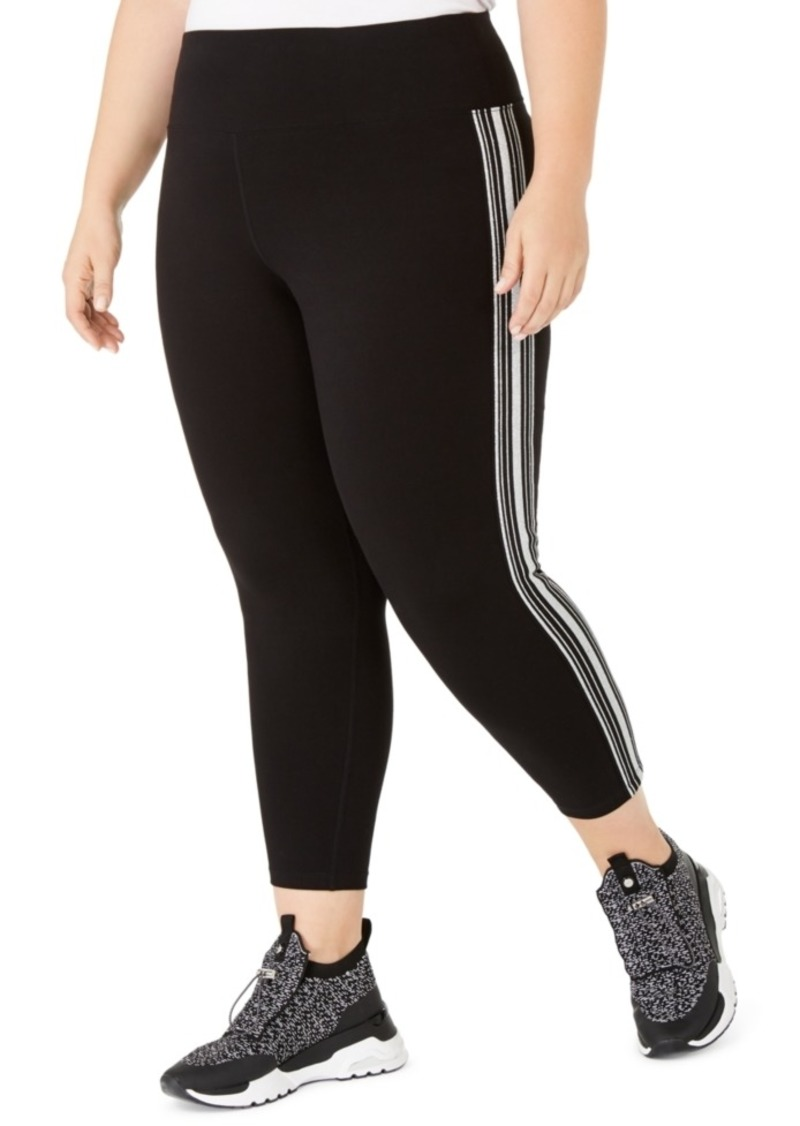 Calvin Klein Performance Plus Size Essex Stripe Tricot Cropped Leggings