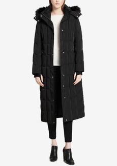 Calvin Klein Plus Size Faux-Fur-Trimmed Maxi Puffer Coat