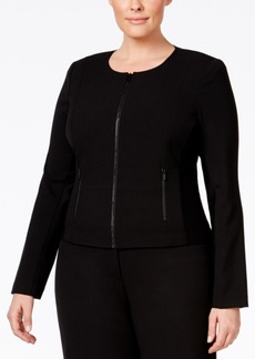 Calvin Klein Plus Size, Fit Solutions, Zip-Front Jacket