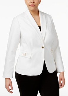 Calvin Klein Plus Size Flap-Pocket Blazer