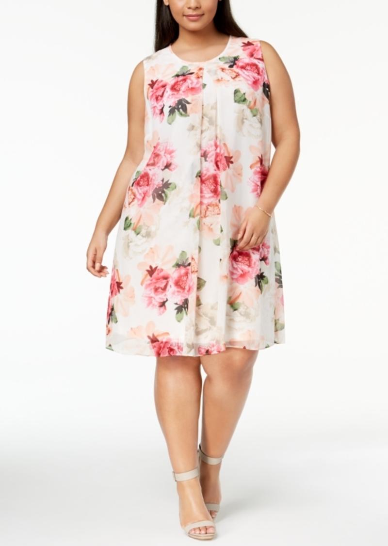 Calvin Klein Calvin Klein Plus Size Floral-Print Trapeze Dress | Dresses