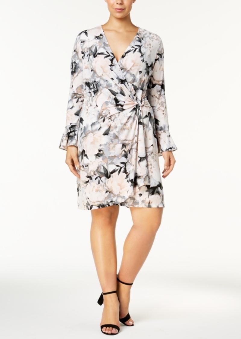 84c89a0eaf7 Calvin Klein Calvin Klein Plus Size Floral-Print Wrap Dress