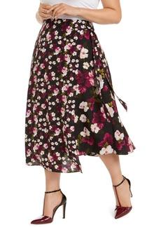 Calvin Klein Plus Size Floral-Print Wrap Skirt