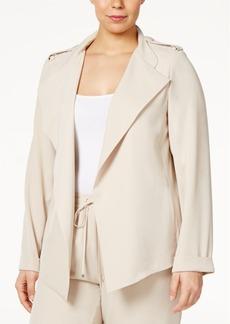 Calvin Klein Plus Size Flyaway Jacket