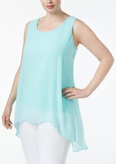 Calvin Klein Plus Size High-Low Overlay Tunic