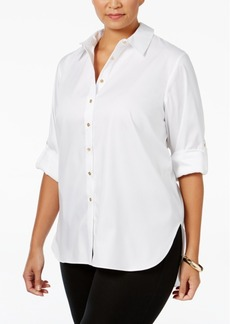 Calvin Klein Plus Size High-Low Tunic Shirt