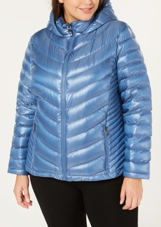 Calvin Klein Plus Size Hooded Packable Down Coat