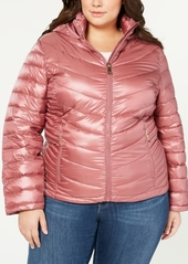 Calvin Klein Plus Size Hooded Packable Down Puffer Coat