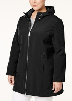 Calvin Klein Plus Size Hooded Softshell Coat