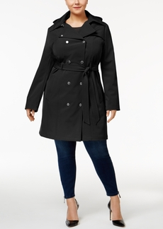 Calvin Klein Plus Size Hooded Softshell Trenchcoat