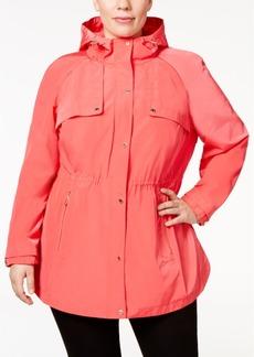 Calvin Klein Plus Size Hooded Utility Jacket
