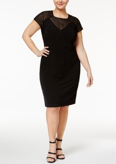 Calvin Klein Plus Size Illusion Banded Sheath Dress