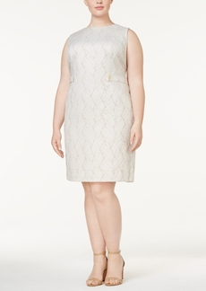 Calvin Klein Plus Size Jacquard Sheath Dress
