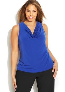 Calvin Klein Plus Size Knit Cowl-Neck Top