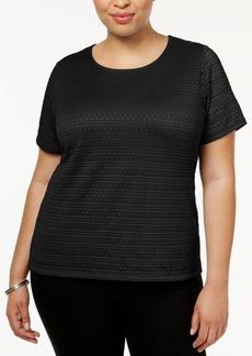 Calvin Klein Plus Size Lace Top