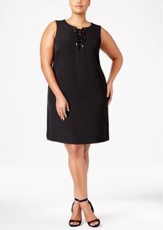 Calvin Klein Plus Size Lace-Up Dress