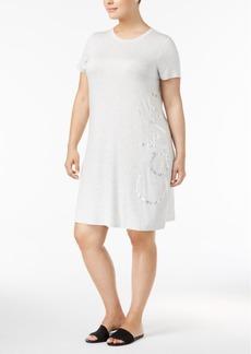 Calvin Klein Plus Size Logo T-Shirt Dress