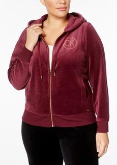 Calvin Klein Plus Size Logo Velour Hoodie