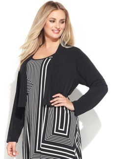 Calvin Klein Plus Size Long-Sleeve Open-Front Cardigan