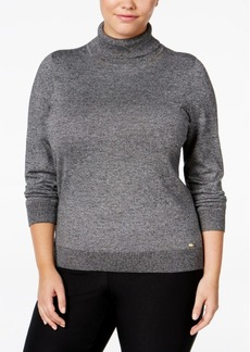 Calvin Klein Plus Size Marled Turtleneck Sweater