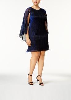 Calvin Klein Plus Size Metallic Cape Dress