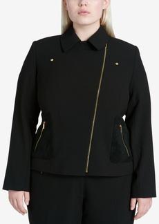 Calvin Klein Plus Size Moto Jacket