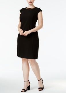 Calvin Klein Plus Size Necklace Sheath Dress