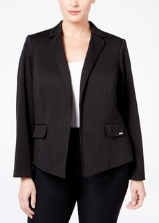 Calvin Klein Plus Size Notched-Collar Open-Front Jacket