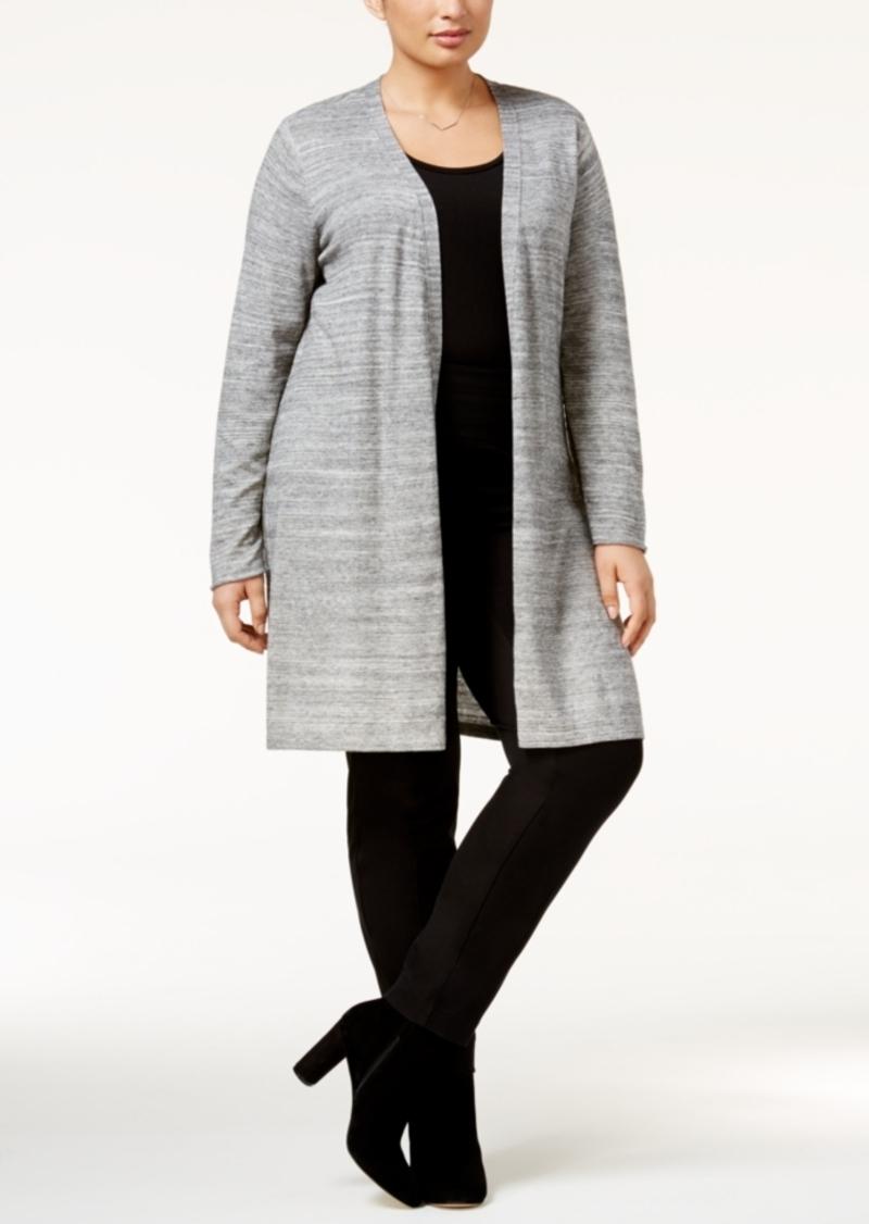 Calvin Klein Calvin Klein Plus Size Open-Front Duster Cardigan ...