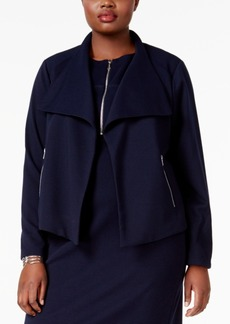 Calvin Klein Plus Size Open-Front Jacket