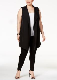 Calvin Klein Plus Size Open-Front Vest