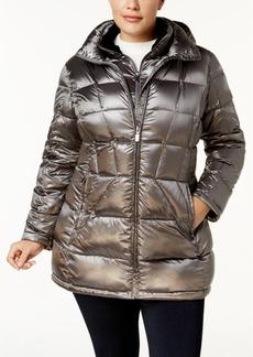 Calvin Klein Plus Size Packable Down Puffer Coat