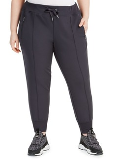 Calvin Klein Performance Plus Size Pintuck Joggers