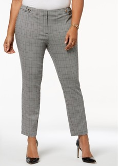 Calvin Klein Plus Size Plaid Pants