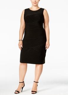 Calvin Klein Plus Size Pleated Bandage Dress