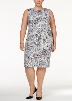 Calvin Klein Plus Size Printed Sheath Dress